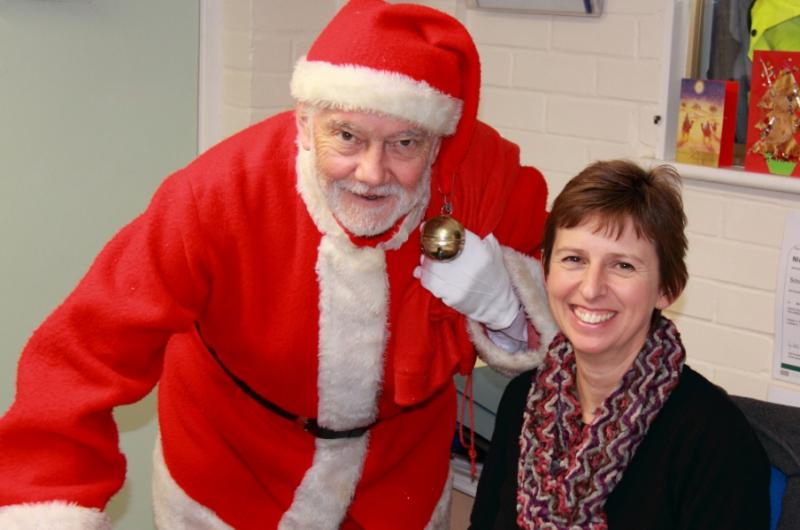 Community & Vocational - Rotarian Alan plays Father Christmas at Woodlands special needs school, Leatherhead.