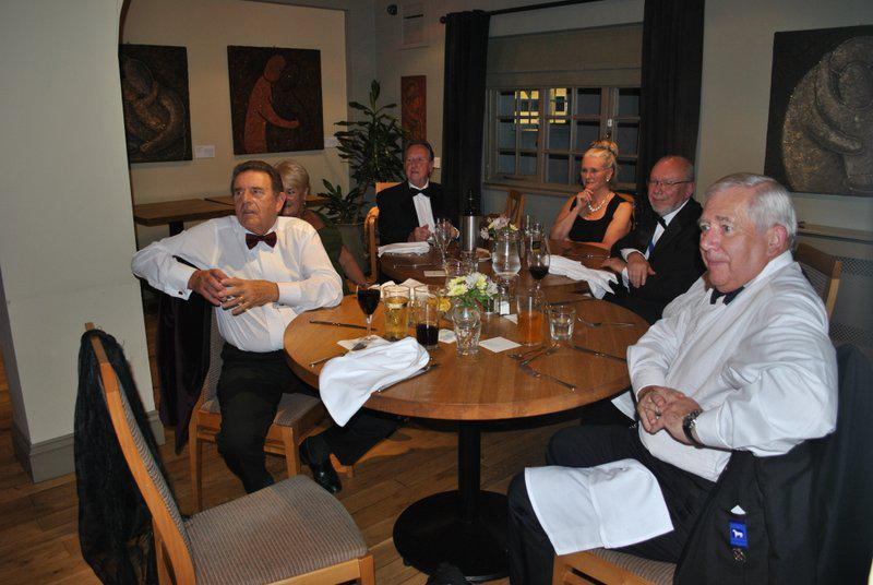 7:30pm PRESIDENTS NIGHT at the Clive Hotel, Ludlow - Ivan, Margaret, Gordon, Irene, Norman and Martin.