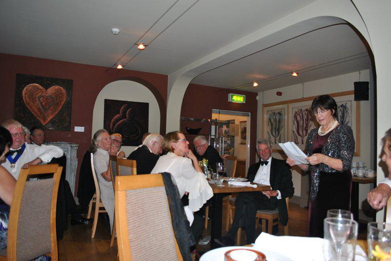 7:30pm PRESIDENTS NIGHT at the Clive Hotel, Ludlow - Dorothy and her very clever poem.