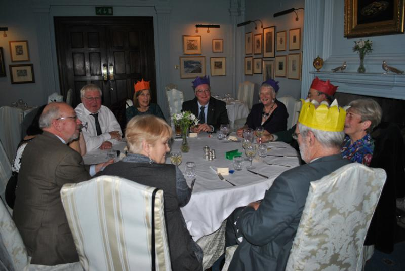 Rotary Golfers ( and others!) lunch at Llangoed Hall - And there is Margaret....