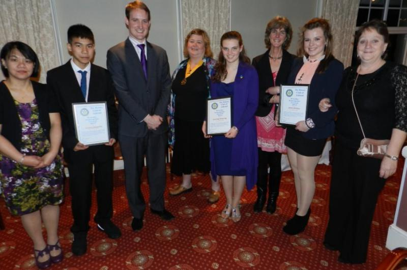Community & Vocational - Students from St Andrew's School receive Worthy Enterprise Awards.