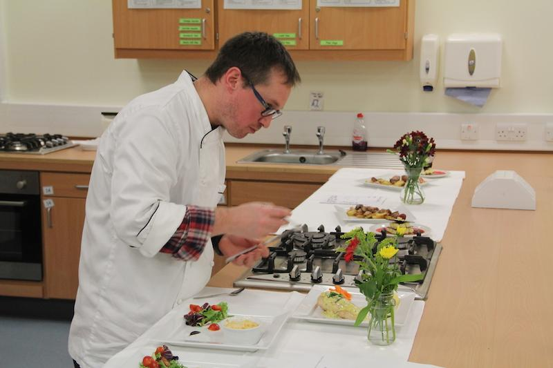 Ailsa Repeats Young Chef Success in 2014 - Judge Jamie scrutinises the tarragon sauce in the second prize dish