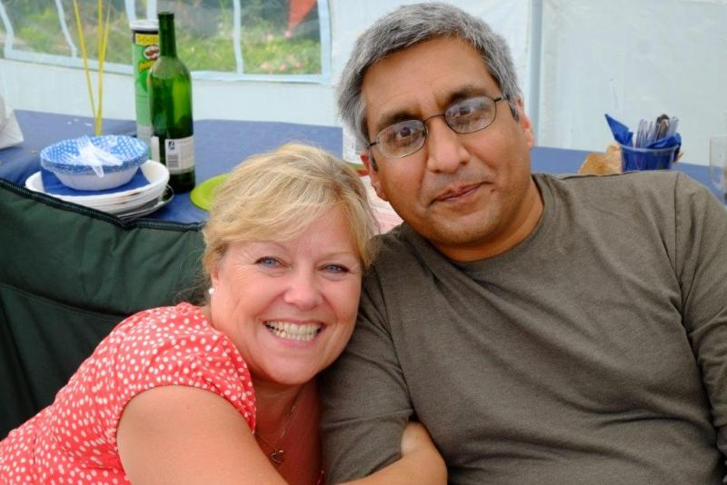About our Club - President's garden party - Chrissie and Salinder