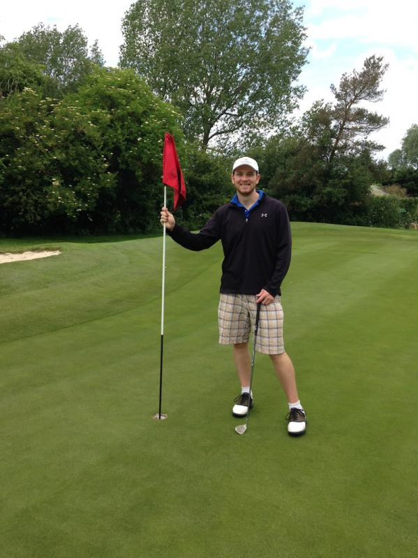Rotary Scholars - The highlight for Sean was the chip in for a birdie on the 14th which is not an easy hole. He had not played for over a year so was a bit rusty but did not disgrace himself.