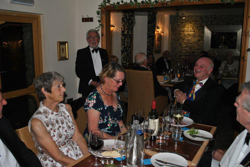 7.15 for 7.30pm Sheila's President's night at the Castle Inn - Howard and his tongue twister