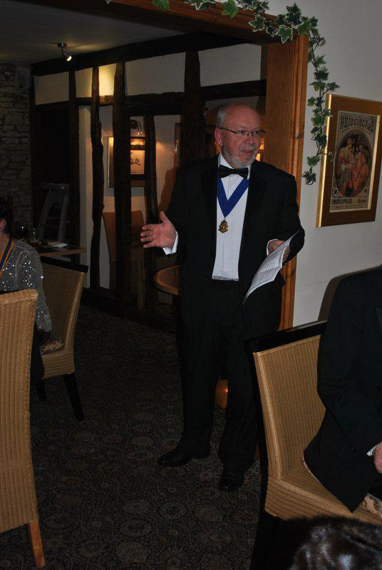 7.15 for 7.30pm Sheila's President's night at the Castle Inn - Norman and his golfing jokes