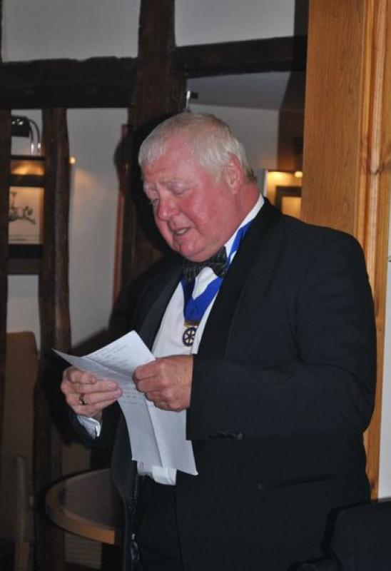 7.15 for 7.30pm Sheila's President's night at the Castle Inn - Kevin and the Captain - or maybe it was something else...