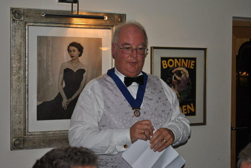 7.15 for 7.30pm Sheila's President's night at the Castle Inn - Paul very smartly dressed
