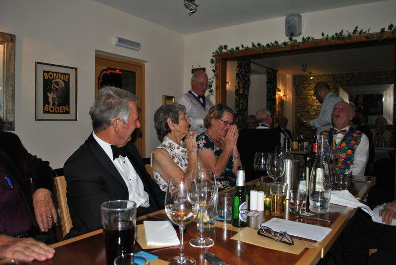 7.15 for 7.30pm Sheila's President's night at the Castle Inn - ..and telling us about poor Trevor.