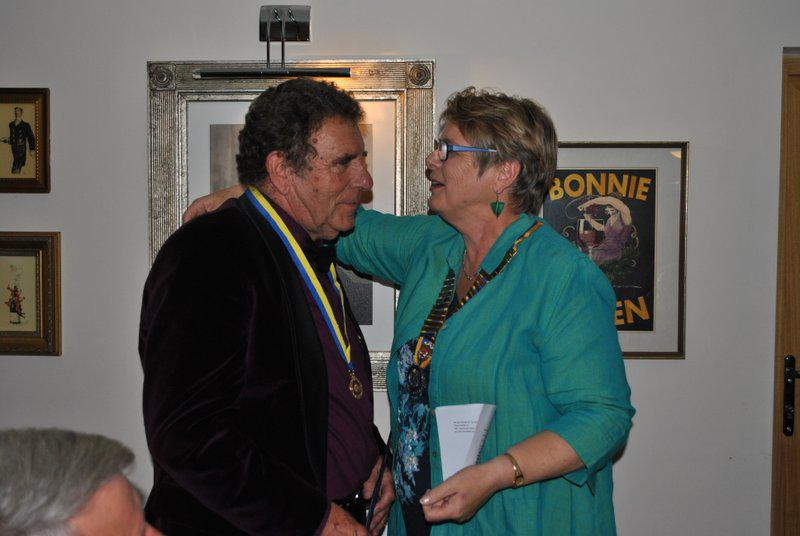 7.15 for 7.30pm Sheila's President's night at the Castle Inn - before presenting Ivan with his Paul Harris award.