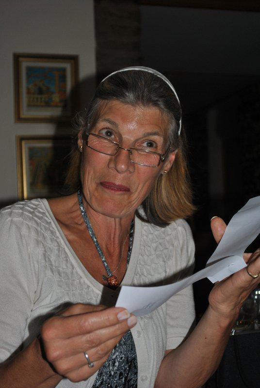 7.15 for 7.30pm Sheila's President's night at the Castle Inn - and Sylvie playing hers....