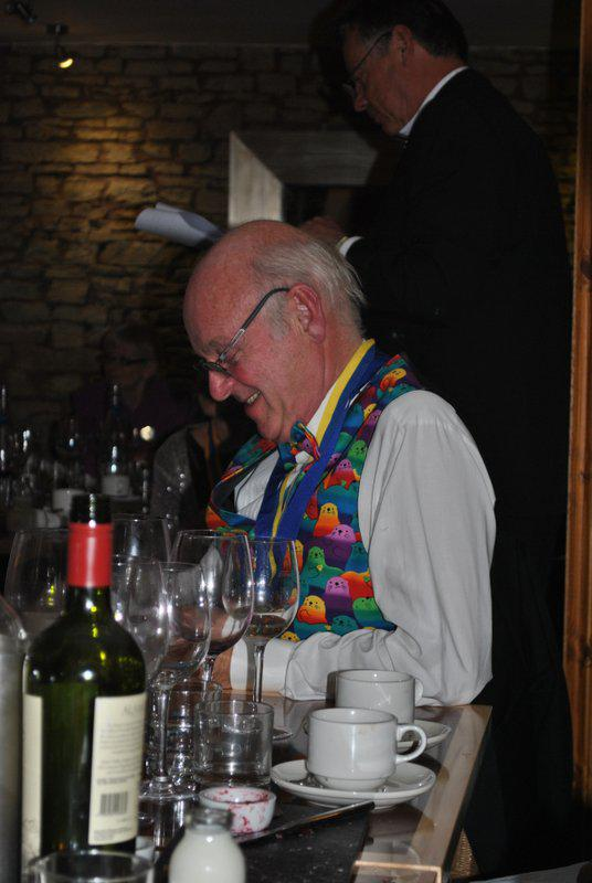7.15 for 7.30pm Sheila's President's night at the Castle Inn - as well as Kim - the arbeiter of sartorial elegance with that waistcoat