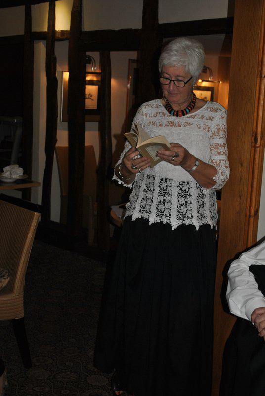 7.15 for 7.30pm Sheila's President's night at the Castle Inn - Carolyn reading her poem