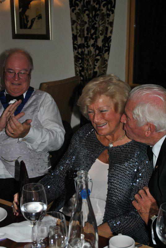7.15 for 7.30pm Sheila's President's night at the Castle Inn - Congratulations Ann - a kiss from Brian