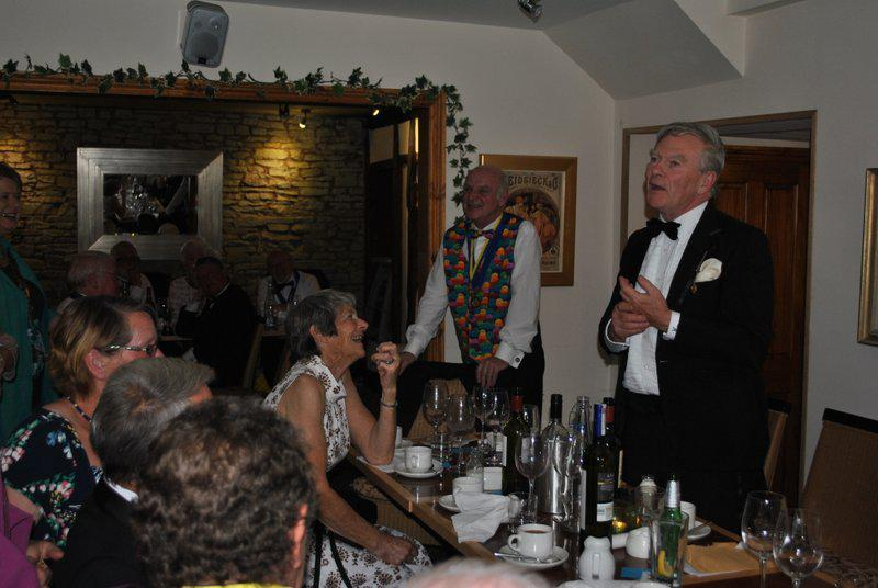 7.15 for 7.30pm Sheila's President's night at the Castle Inn - ...and confirming that the girls made the right choice!