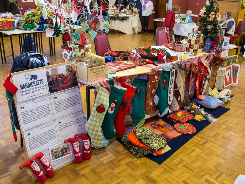 Christmas Fair  2014 - Headway's stall makes a fine display.