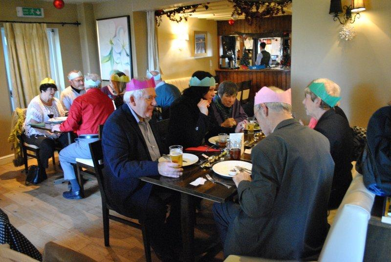 12.45 for 1pm Rotarians Golfing Xmas Lunch  - Enjoying the meal 2