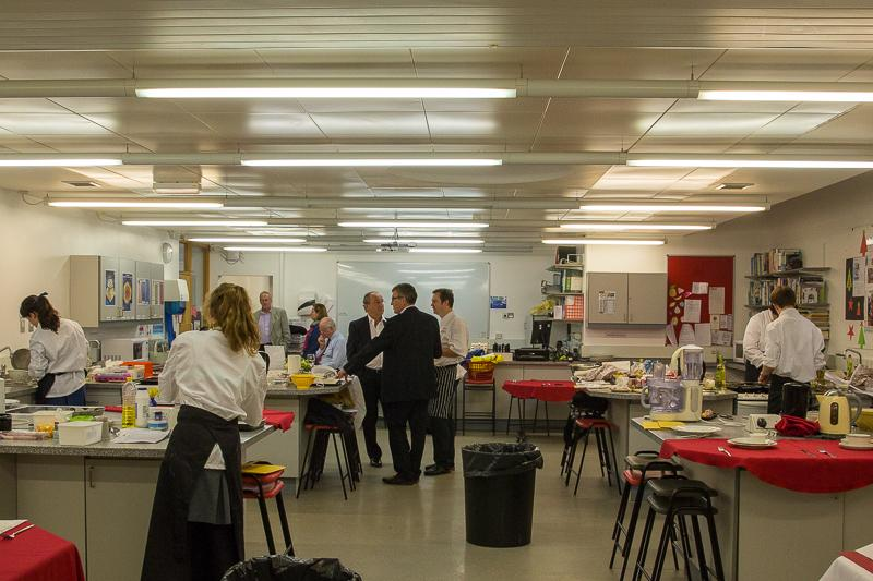 Rotary Young Chef 2014-15 - Jersey Final November 2014 - The kitchens at Jersey College for Girls.
