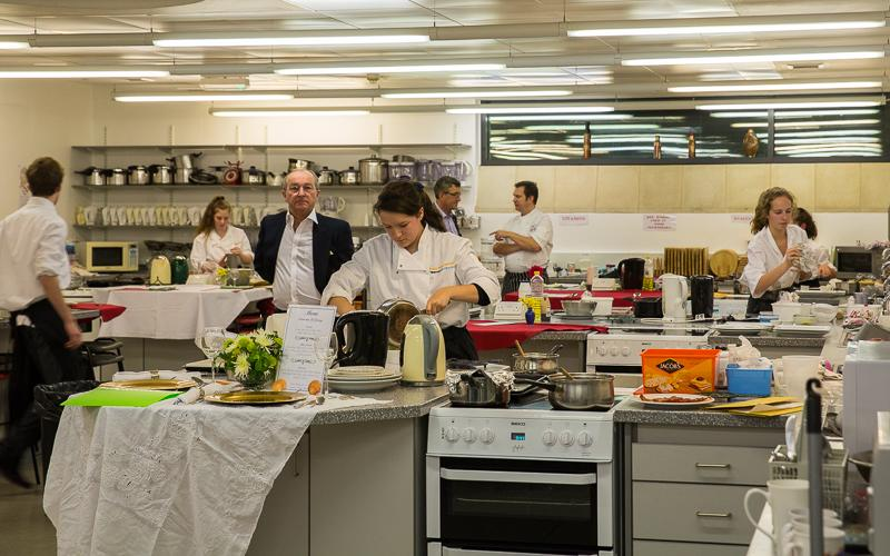 Rotary Young Chef 2014-15 - Jersey Final November 2014 - Mid contest with the eventual winner in the foreground.