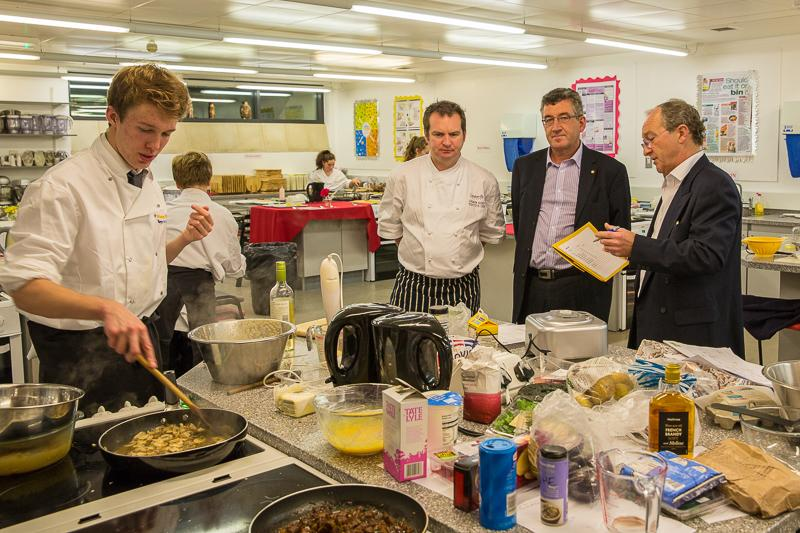 Rotary Young Chef 2014-15 - Jersey Final November 2014 - Well how are we going to score this young man?