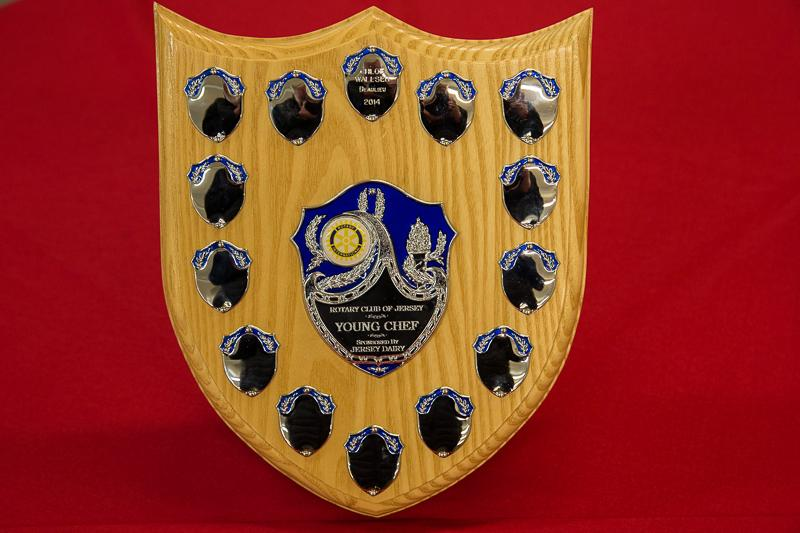 Rotary Young Chef 2014-15 - Jersey Final November 2014 - Young Chef of the Year Trophy sponsored by Jersey Dairy.