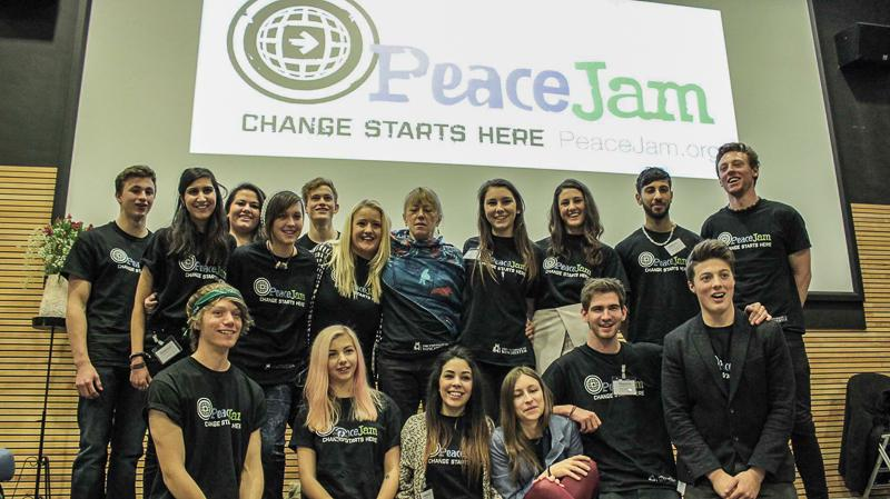Jersey Students at PeaceJam UK Conference March 2015 - from Winchester University