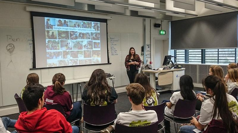 Jersey Students at PeaceJam UK Conference March 2015 - speaks on International Volunteering and Global Citizenship
