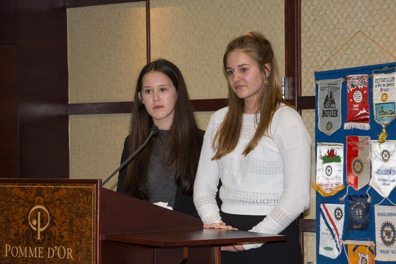 Young Enterprise 2015 - presenters Saoirse and Megan
