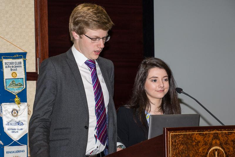 Young Enterprise 2015 - presenters another Christina and Harry