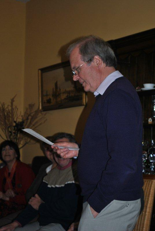 Literary evening at Ffrydd House Knighton - Patrick