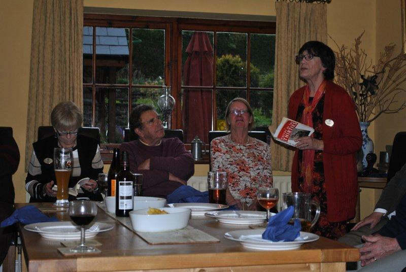 Literary evening at Ffrydd House Knighton - Dorothy
