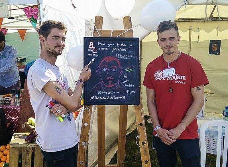 PeaceJam at Jersey Live - Another way of getting the message across