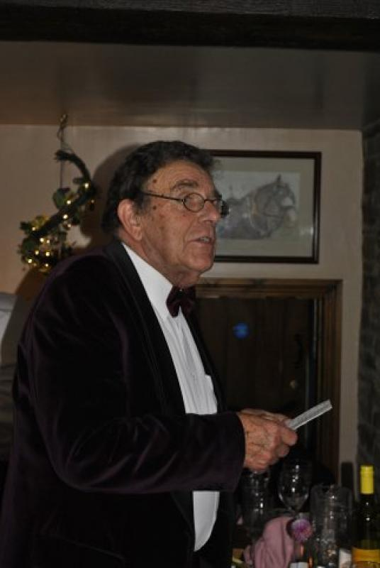 President's evening at the Riverside Inn, Aymestry - Ivan tells a tale