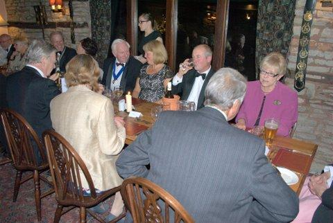 President's evening at the Riverside Inn, Aymestry - Before the meal