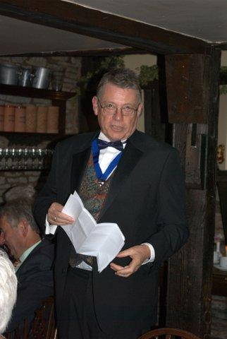 President's evening at the Riverside Inn, Aymestry - Ian and his clever piece of prose...