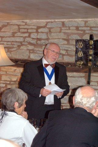 President's evening at the Riverside Inn, Aymestry - Norman tells us a few of his dodgy jokes