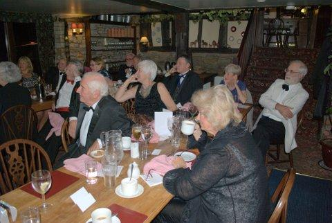 President's evening at the Riverside Inn, Aymestry - An attentive audience