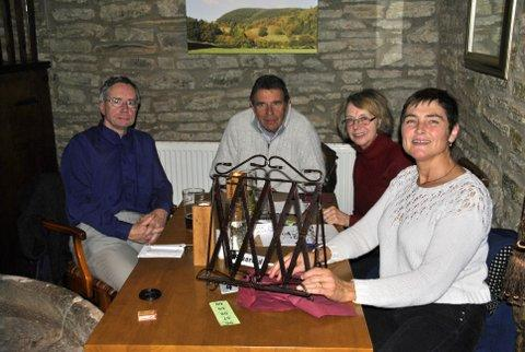 Family Quiz and Supper at the Baron - The winning team of Colin, Ivan, Andrea and Cathy