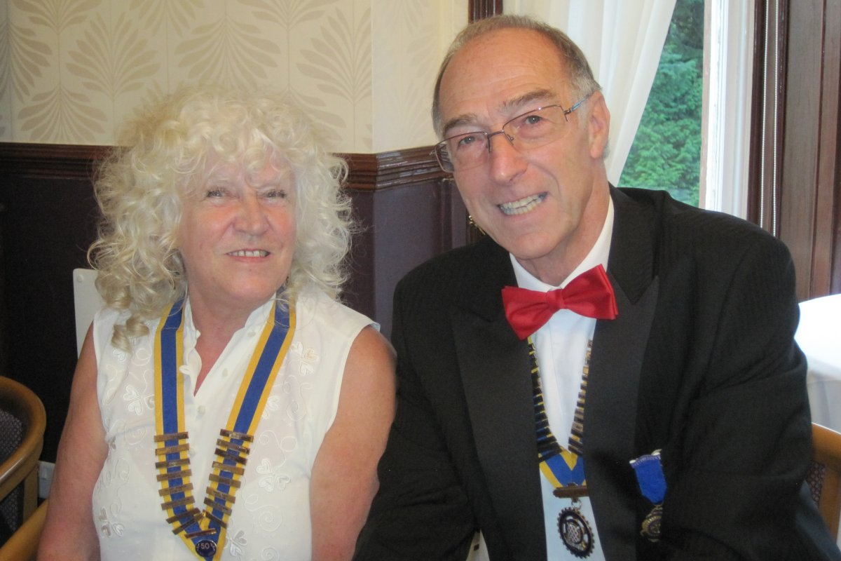 Millom Club Charter Dinner 2016 - David and Doreen begin the evening
