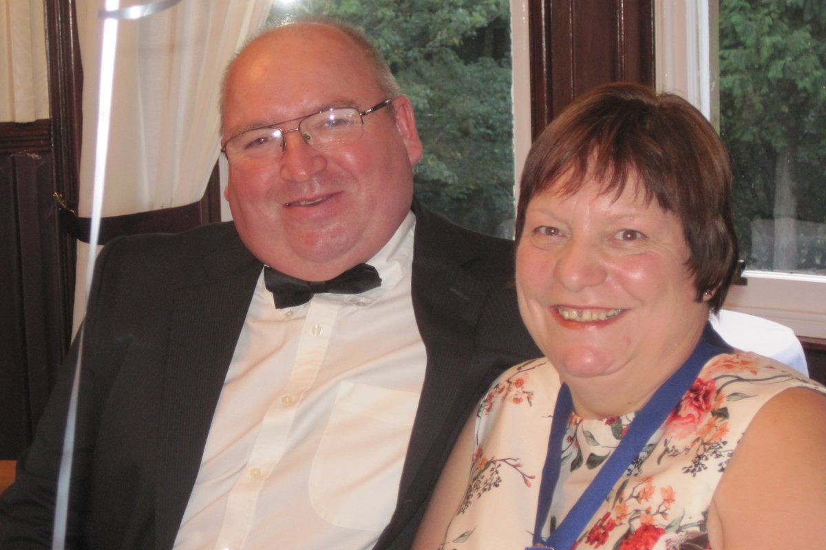 Millom Club Charter Dinner 2016 - Angela Dixon the Deputy Mayor and Tony