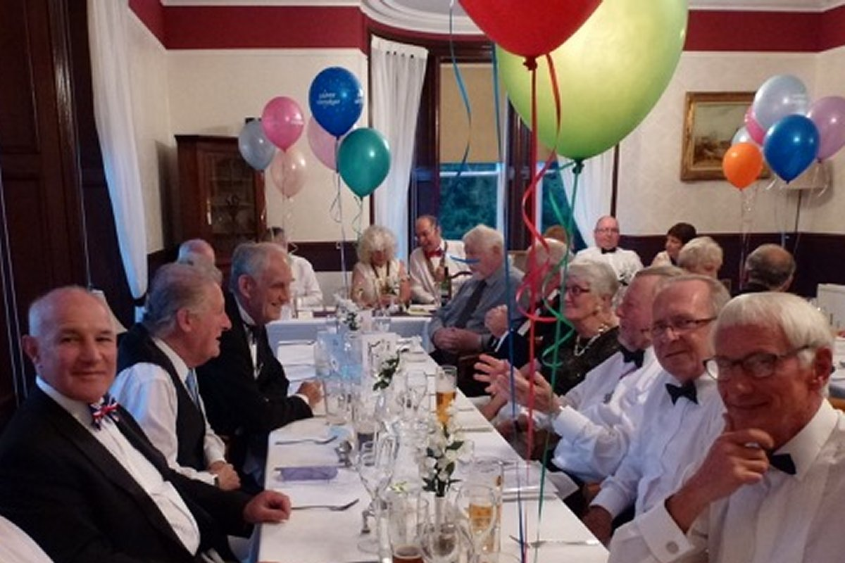 Millom Club Charter Dinner 2016 - The assembled Rotarians