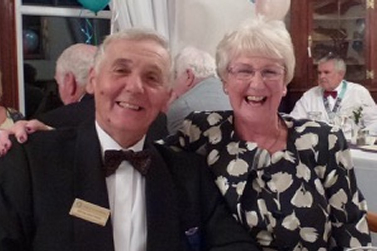Millom Club Charter Dinner 2016 - Bryan and Nadine are still smiling