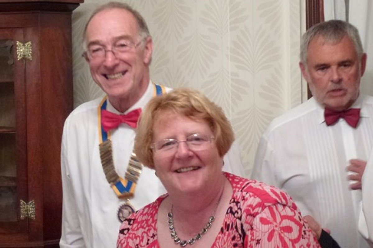 Millom Club Charter Dinner 2016 - 2 out of 3 are smiling !