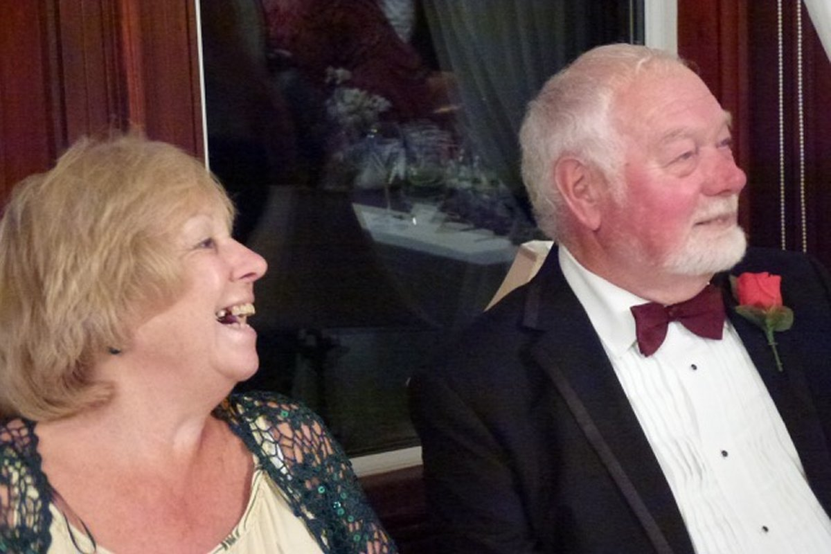 Millom Club Charter Dinner 2016 - Paul and Celia liked that one !