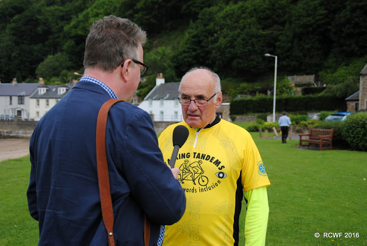 RIBI Sponsored bike ride in support of prostate cancer - KEN MACKAY IS INTERVIEWED FOR PROSTRATE CANCER UK