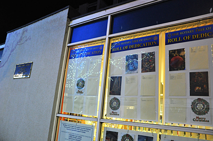 Rotary Tree of Light - December 2018 - Dedication Roll will be featured in the Library window at the Vennel from Saturday, 25th November until Saturday, 6th January.