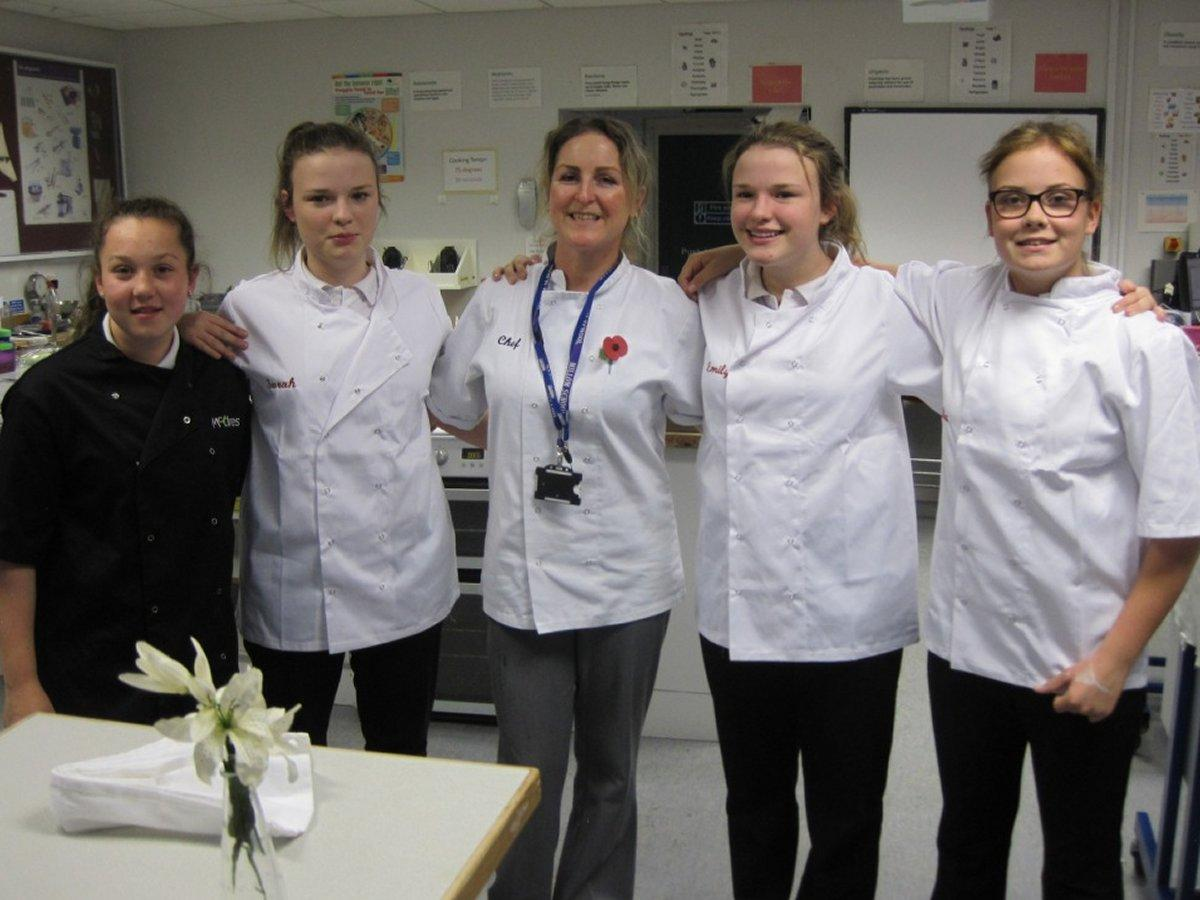 Rotary Young Chef competition 2016  - Charlotte, Sarah, Karen, Emily and Mia.
