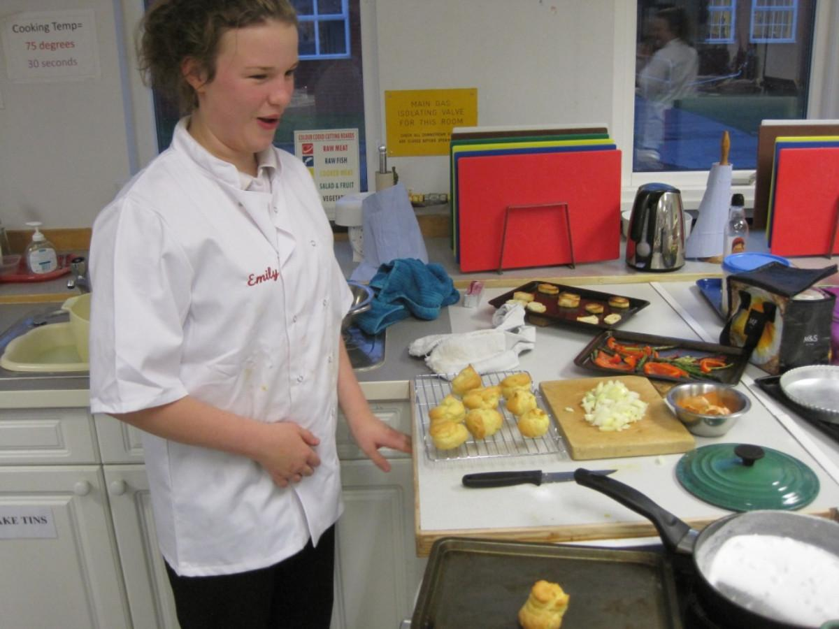 Rotary Young Chef competition 2016  - Emily looks quite pleased.