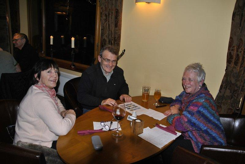 Family Quiz and Supper at the Baron - Dorothy, David, Heather