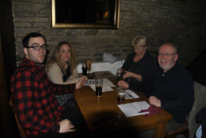 Family Quiz and Supper at the Baron - Norman and friends
